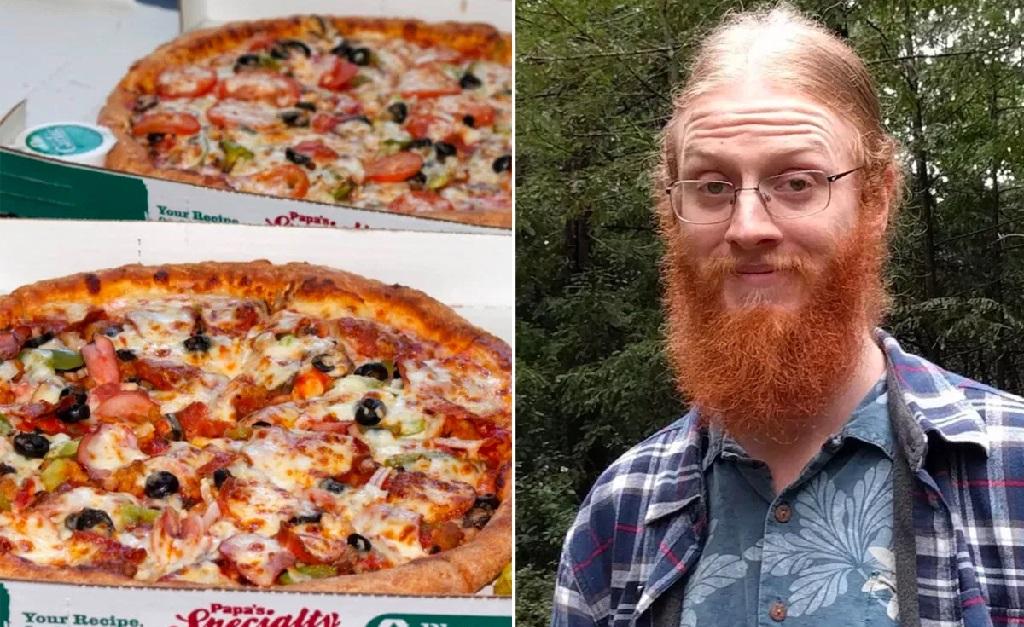 As pizzas compradas por Jeremy Sturdivant há 11 anos
