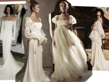 Com celebrações mais intimistas, por causa da pandemia, noivas apostam em vestidos minimalistas e com 'pegada' boho. Confira!