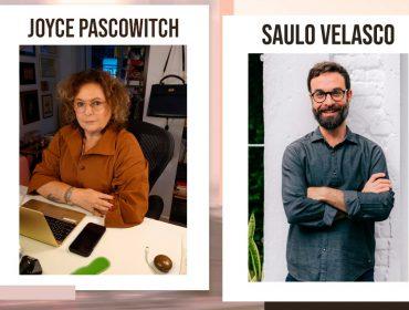 """Joyce Pascowitch e o psicólogo Saulo Velasco em papo sobre amor nos dias de hoje: """"As conexões afetivas são fundamentais para que a gente sobreviva aos momentos de crise"""""""