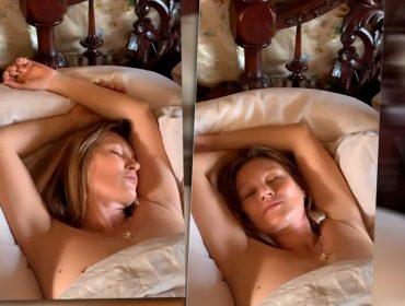 Vídeo em que Kate Moss aparece dormindo com seios à mostra é leiloado por R$ 95 mil… mas foi por uma boa causa!