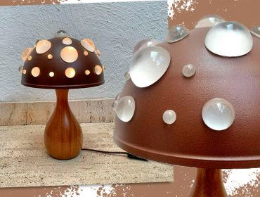 Lá em casa: a arrojada luminária Cogumelo de Luiza de Biasi rouba a cena em qualquer ambiente