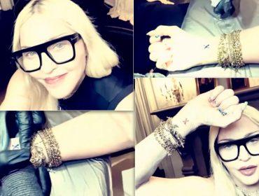 Viciou! Madonna faz nova tatuagem poucos meses depois de sua primeira arte. Veja o resultado!