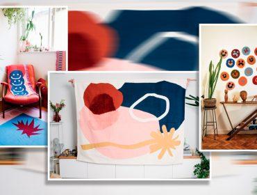 Lá em casa: as tapeçarias super modernas, feitas com diferentes técnicas, da Voador Tecelagem