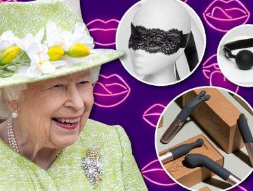 A rainha e alguns produtos comercializados pela Lovehoney