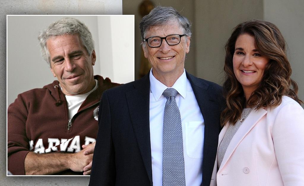 Jeffrey Epstein, e o ex-casal Bill e Melinda Gates