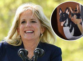 Primeira-dama dos EUA exibe bolsa de mão com desenhos de seus pets e faz vendas do acessório bombarem