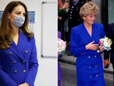 Em tour oficial pela Escócia, país estratégico para os Windsors, Kate Middleton surge com look inspirado em Diana