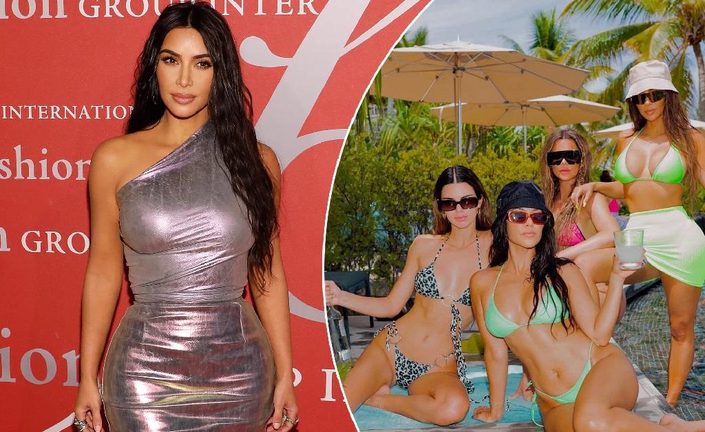 Kim Kardashian e suas irmãs na festa que deu o que falar