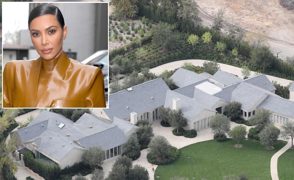 Kim Kardashian e seu château de US$ 60 mi em Hidden Hills, na Califórnia