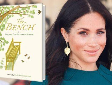 "Meghan Markle e a capa de seu livro infantil, ""The Bench"""