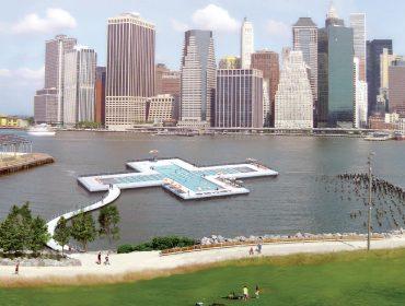 Imagem digitalizada da piscina que terá como base o próprio East River de NY
