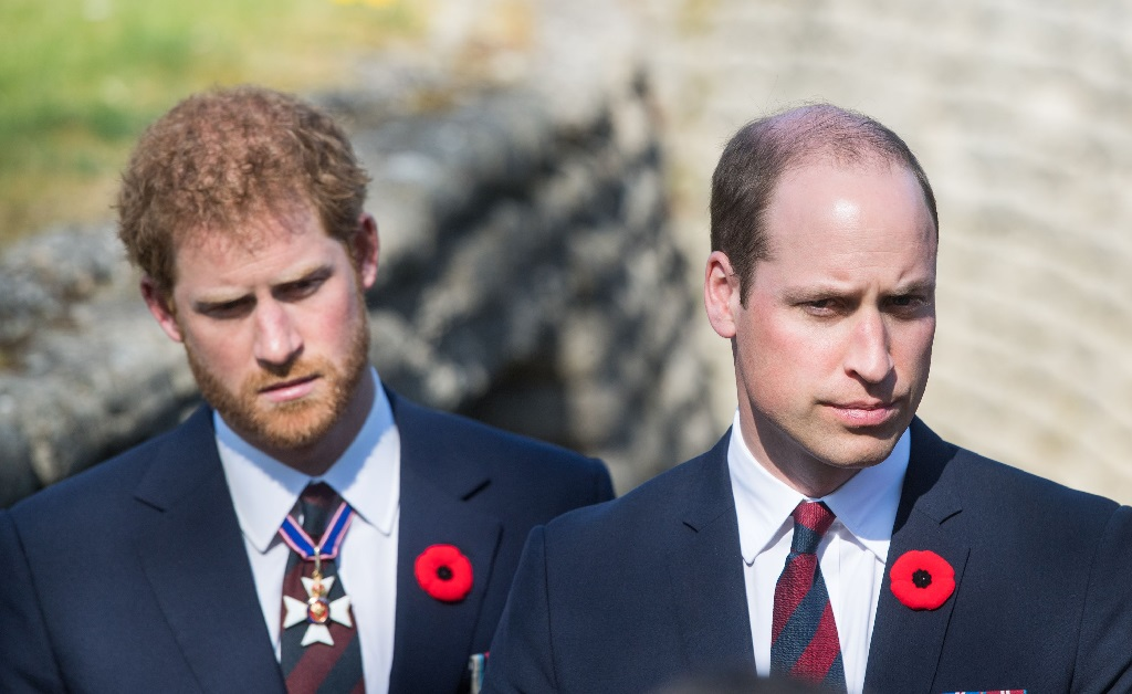 Os príncipes Harry e William