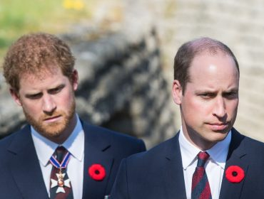 Os príncipes Harry e William