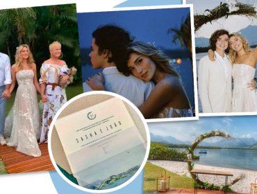 Casamento de Sasha e João Figueiredo foi marcado por buffet vegano, convite de folha de bananeira e Xuxa com seu pet no colo. Aos detalhes!