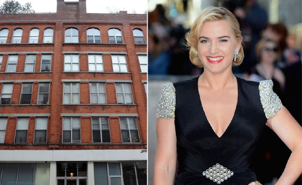 A atriz e o prédio de NY onde fica o apê que ela vendeu