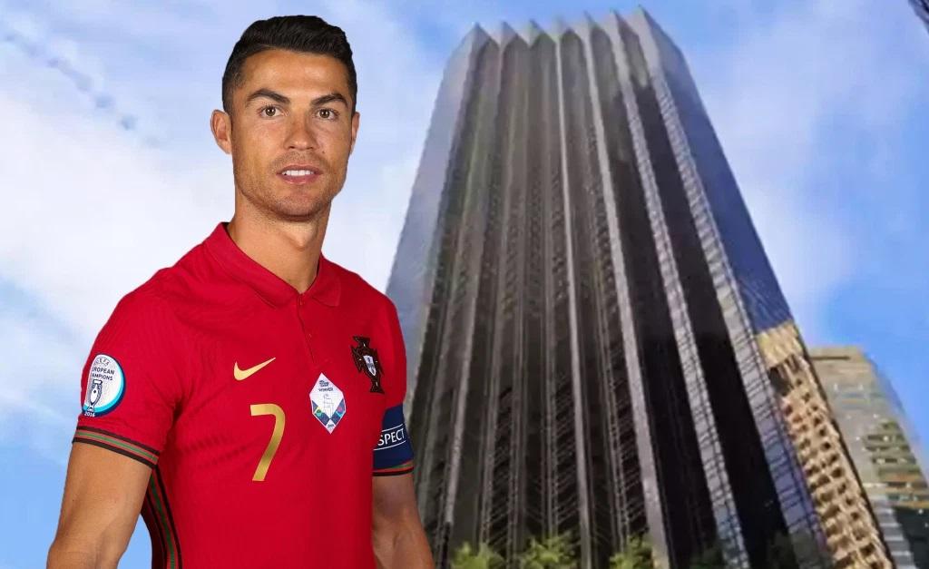 Cristiano Ronaldo e a Trump Tower, em NY
