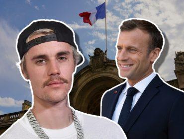 Justin Bieber e Emmanuel Macron