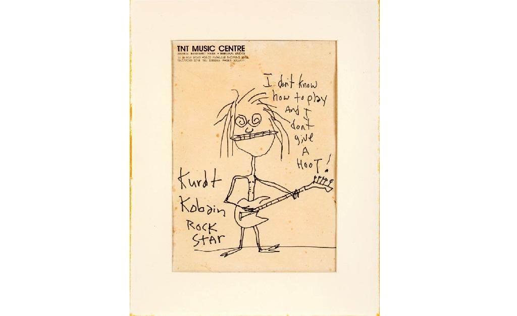 O doodle desenhado pelo líder do Nirvana