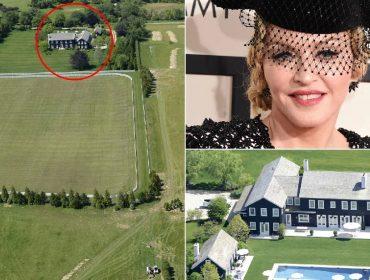 Vista aérea da propriedade da cantora, que fica em Bridgehampton