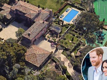 O château de Meghan Markle e Harry em Montecito, na Califórnia