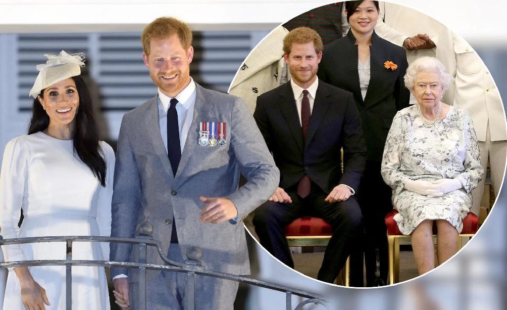 Meghan e Harry, e o ex-royal com a rainha
