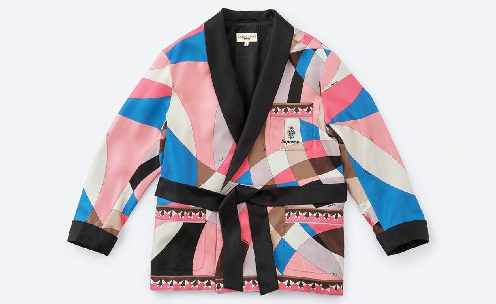 Uma das peças da primeira colaboração entre a Supreme e a Emilio Pucci