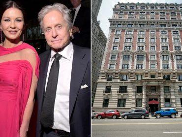 O casal hollywoodiano e o prédio onde fica o imóvel