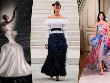 Alta-costura: Flores, volume e beleza no olhar aparecem como tendências na Chanel, Armani, Ronald van der Kemp, Karl Lagerfeld…