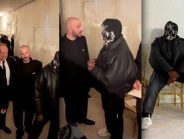 Balenciaga retorna à semana de alta-costura com desfile badalado e presença de Kanye West mascarado