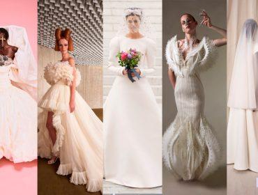 Bride to be: os vestidos de noiva da haute couture que vão do minimalismo à extravagância