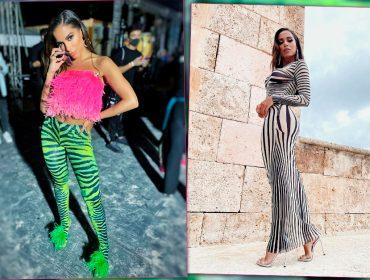 Batalha de looks: as produções de luxo de Anitta para o Heat Latin Music Awards
