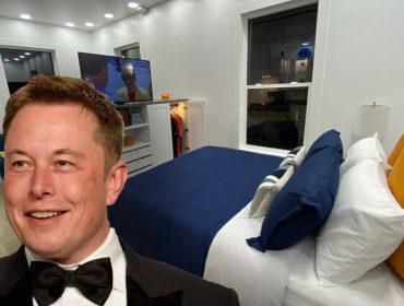 Elon Musk e uma imagem do novo endereço dele