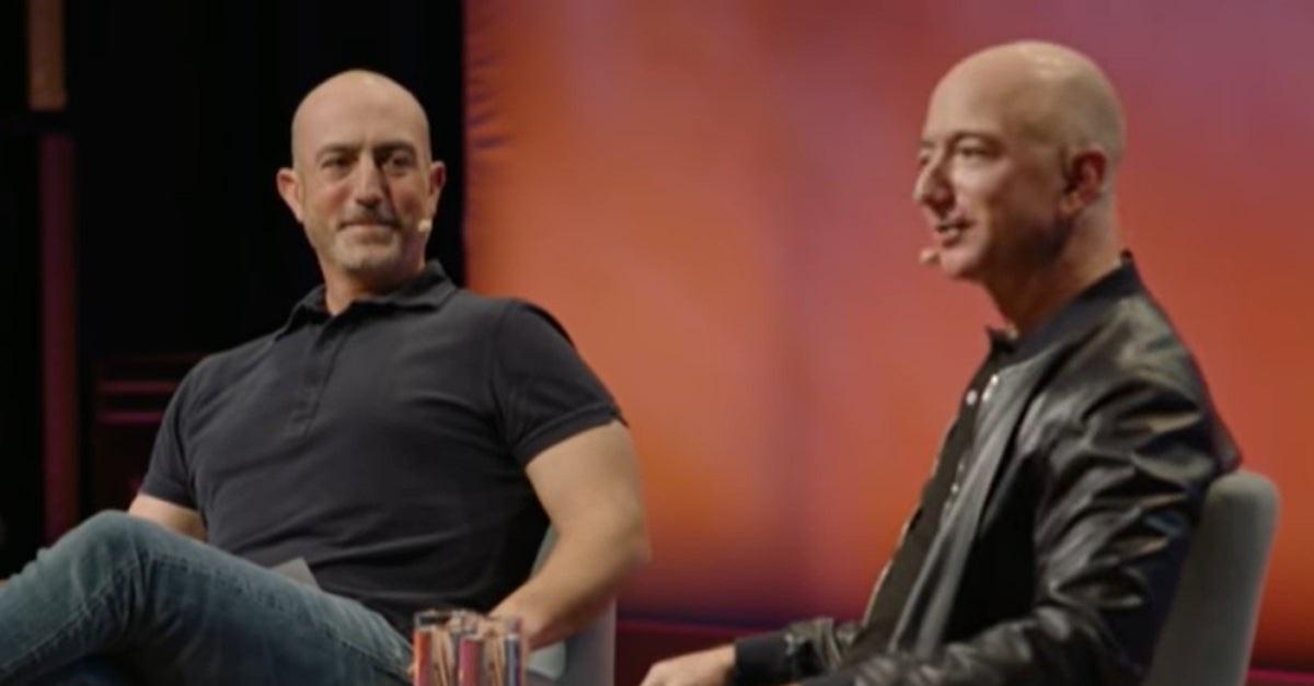 Mark e Jeff Bezos
