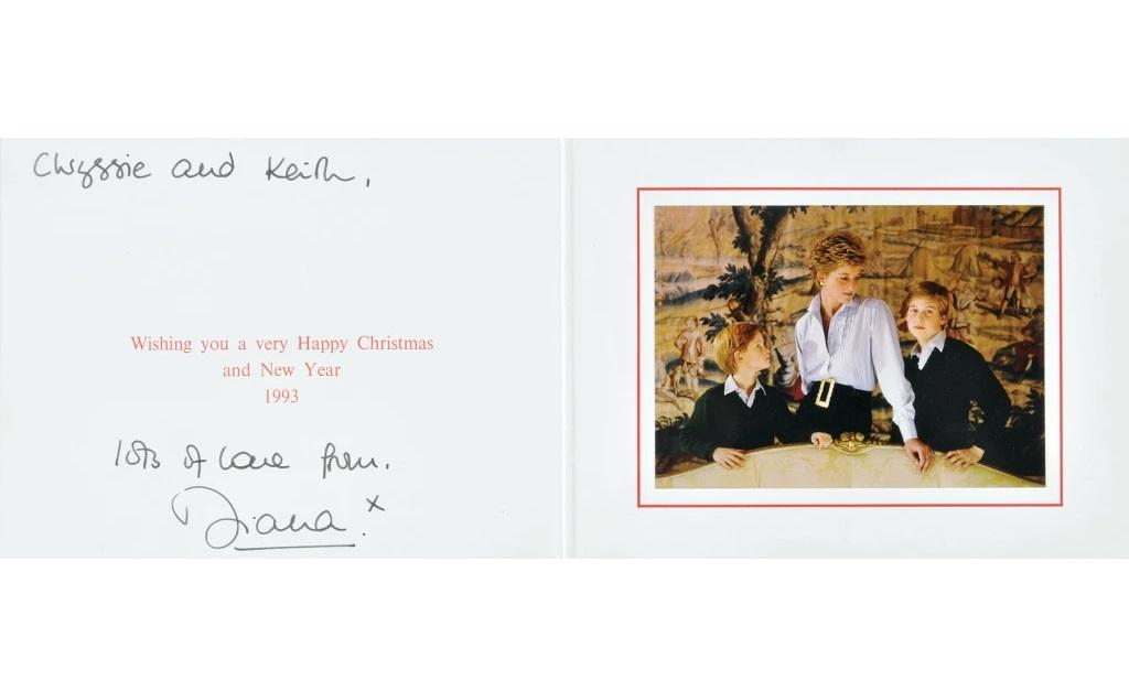 O look de Lady Di no cartão de Natal que ela enviou em 1993