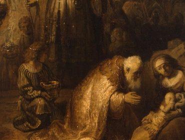 """A tela """"The Adoration of the Magi"""", do artista holandês"""