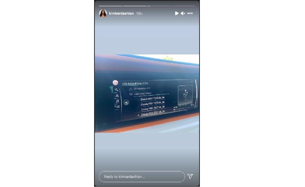 Um screenshot do post feito por Kardashian no fim de semana