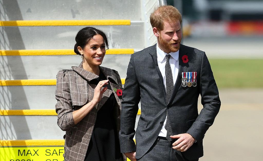Meghan Markle e Harry em sua primeira visita oficial à Nova Zelândia