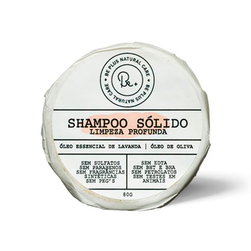 Shampoo sólido de Lavanda - Be Plus Natural Care