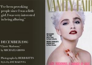 "Madonna  ""Vanity Fair""."