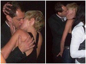 Só na pegação: Jude Law e Kim Stewart