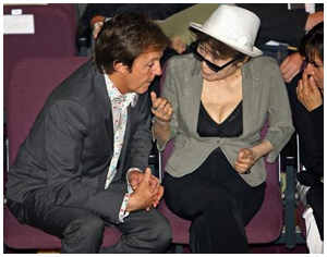 Paul McCartney e Yoko Ono: bons amigos?