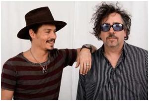 Tim Burton e Johnny Depp em nova parceria cinematográfica