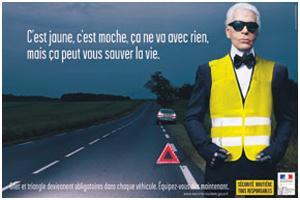 Karl Lagerfeld faz campanha inusitada na França