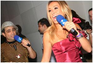 Sabrina Sato e Christian Pior no lounge Glamurama Fiat