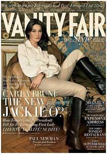 Carla Bruni é capa da Vanity Fair
