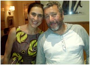 Philippe Starck e sua mulher jantam em Paris