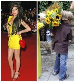 Amy Winehouse e seu admirador: fofo