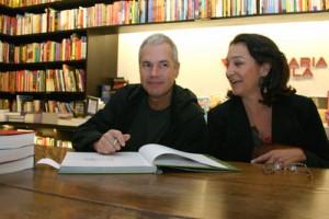 Lançamento de livros na Livraria da Vila