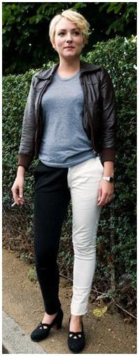 Tendência: calças bicolores