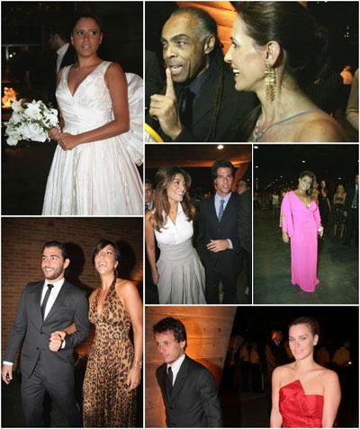A noiva Marina Morena e seus convidados: festão agita feriado carioca